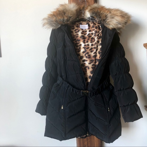 1bdeac824 Laundry Down Puffer Coat with Faux Fur Hood- XL